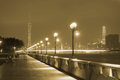 Embankment in guangzhou at night Royalty Free Stock Photography
