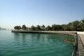 Embankment of the gulf of oman al mamzar beach and park dubai united arab emirates uae Stock Photography
