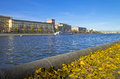 Embankment of the moskva river in a beautiful autumn day moscow russia Stock Photo