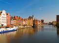 Embankment  of Motlawa river, Gdansk Stock Photo