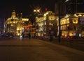Embankment pudong night light shanghai china Stock Photos