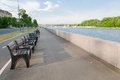 Embankment in spring day view of moscow frunze Royalty Free Stock Photos