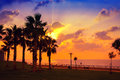 Embankment at sunset over sea netanya city israel Royalty Free Stock Images