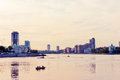 Embankment yekaterinburg city in evening russia june on june is bidding for the expo Stock Photography