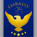 Embassy design over gray background vector illustration Royalty Free Stock Photo