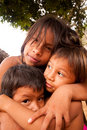 Embera Children Stock Image