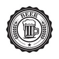 Emblem with beer mug. Design element for logo, label, emblem, sign.