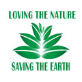 Emblem calling for environmental protection