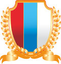 Emblem coat of arms with the tricolor flag Stock Image