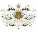 Emblem heraldic vintage Стоковые Изображения