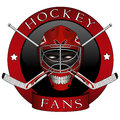 The emblem of the hockey fans Stock Photo