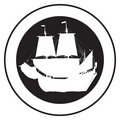 Emblem of an old ship Royalty Free Stock Photography