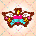 The emblem of the Princess with the heart, crown and wings.