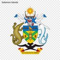 Emblem of Solomon Islands Royalty Free Stock Photo