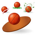 Emblema do basquetebol Imagem de Stock Royalty Free