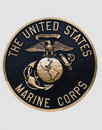 Emblema do Corpo dos Marines de Estados Unidos Foto de Stock Royalty Free