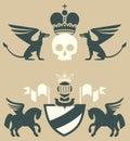 Emblems heraldic shapes Stock Photos