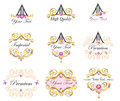 Emblems and labels elements set illustrative element for tags design Royalty Free Stock Photos