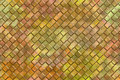 Emboss square blocks abstract background computer graphic design of golden Stock Images
