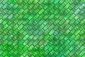 Emboss square blocks abstract background computer graphic design of green Royalty Free Stock Photos