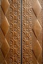 Embossed brass vintage old church door detail Stock Photos
