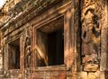 Embossment and windows in angkor wat Stock Photography