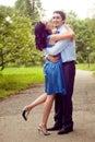 Embrace of happy cheerful joyful couple Royalty Free Stock Photo
