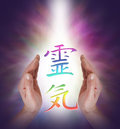 Embracing the Art of Reiki Energy Healing Royalty Free Stock Photo