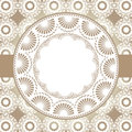 Embrodiery frame special crochet with lacy background pattern Royalty Free Stock Photography
