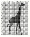 Embroider animal giraffe for an embroidery hands a cross