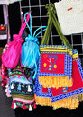 Embroidered bags Stock Images