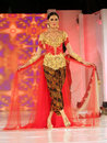 Embroidered clothes models demonstrate from in a fashion show in the city of solo central java indonesia Royalty Free Stock Image