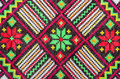Embroidered good by cross-stitch pattern Royalty Free Stock Photo