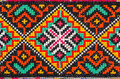 Embroidered good by cross stitch pattern ukrainian ethnic ornament Stock Image