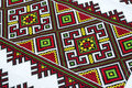 Embroidered good by cross stitch pattern ukrainian ethnic ornament Royalty Free Stock Photography