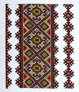 Embroidered good by cross stitch pattern ukrainian ethnic ornament Stock Photography