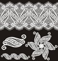 Embroidered guipure lace design Royalty Free Stock Photo