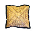 Embroidered pillow isolated on white background Stock Images
