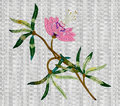 Embroidered Pink Flower
