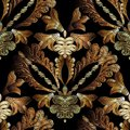 Embroidery baroque vector seamless pattern. Gold floral grunge d