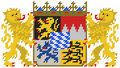 Embroidery of bavarian coat of arms Stock Images