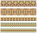 Embroidery cross-stitch pattern Royalty Free Stock Photos
