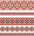 Embroidery cross-stitch pattern Stock Photography