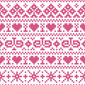 Embroidery cross stitch style vector illustration of seamless pattern Royalty Free Stock Photos