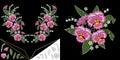 Embroidery floral neckline design