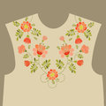 Embroidery floral neckline design Royalty Free Stock Photo