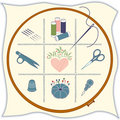 Embroidery Icons Royalty Free Stock Photo