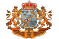 Embroidery of Luxembourg National Emblem Royalty Free Stock Photo