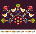 Embroidery pattern this is polish design Royalty Free Stock Photography