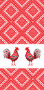 Embroidery rooster D Stock Image